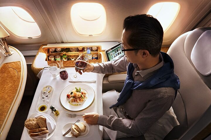 emirates-a380-first-class-dining-a-la-carte-cuisine-720x480