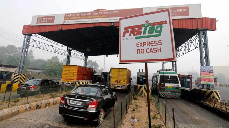 FASTAG LANE AT KHERKI DAULA TOLL ----- PHOTO BY INDRANIL DAS