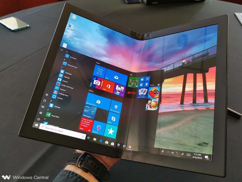 lenovo-foldable-thinkpad-x1-book-open